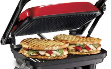 HAMILTON BEACH PANINI PRESS GRILL & GOURMET SANDWICH MAKER