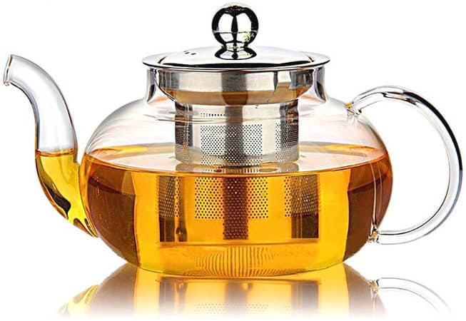 Hiware Borosilicate Glass Tea Kettle with Infuser
