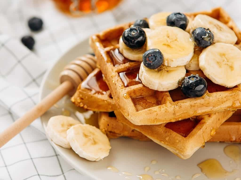American Waffle with toppings