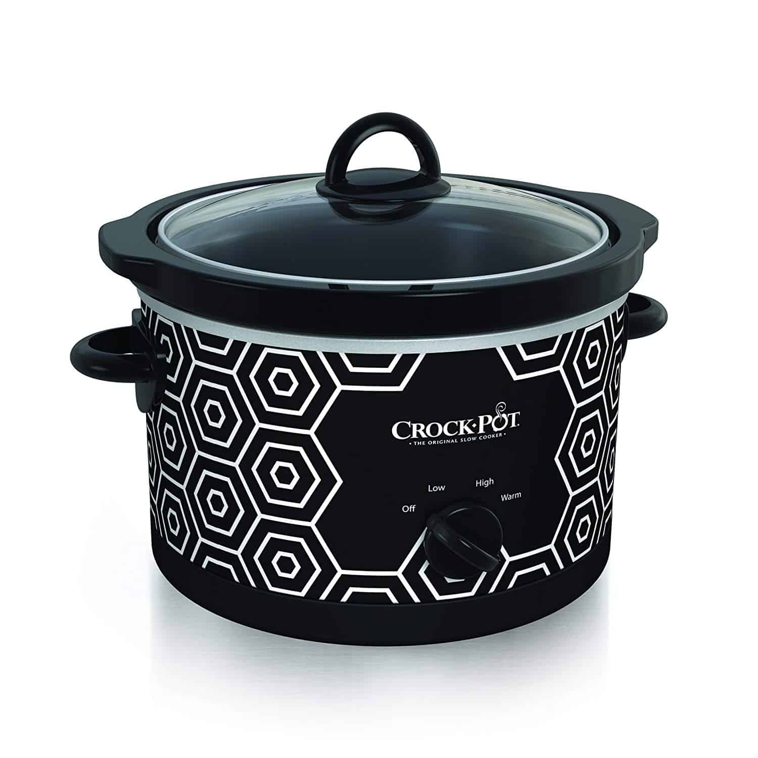 Crock Pot Round with Cool Geometrical Pattern