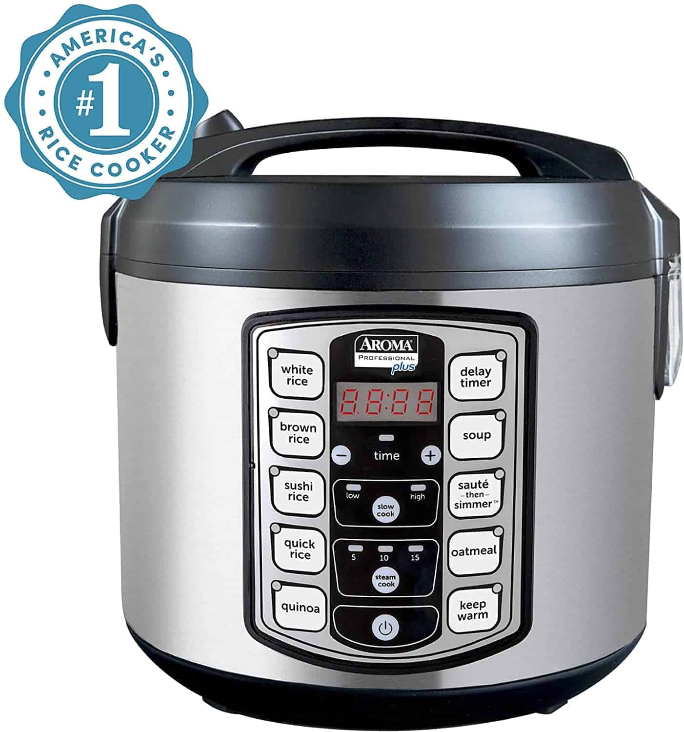 Aroma Housewares Stainless Steel Rice Cooker for Families