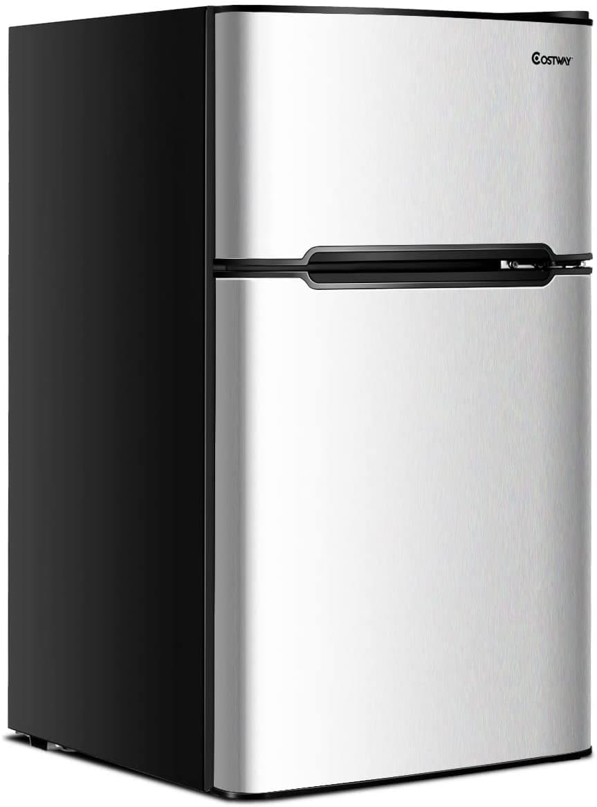 COSTWAY Compact Mini Refrigerator and Freezer