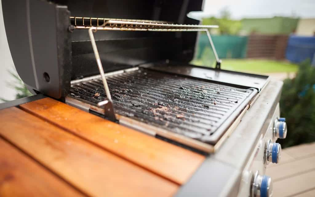 Before cleaning a grill