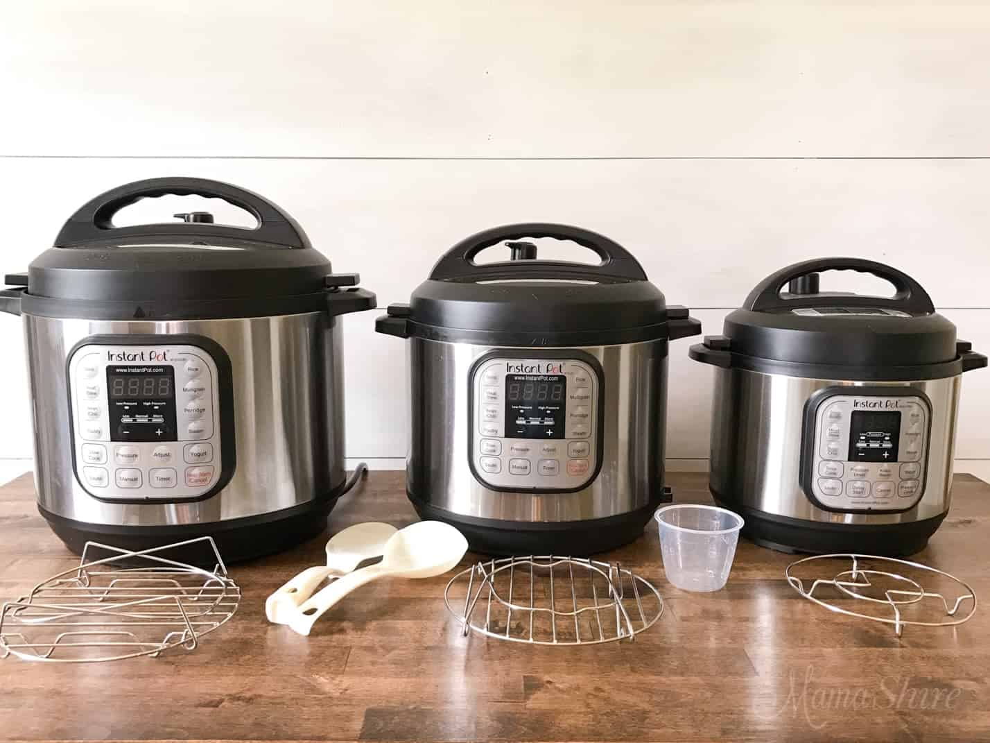 Different size of instant pots
