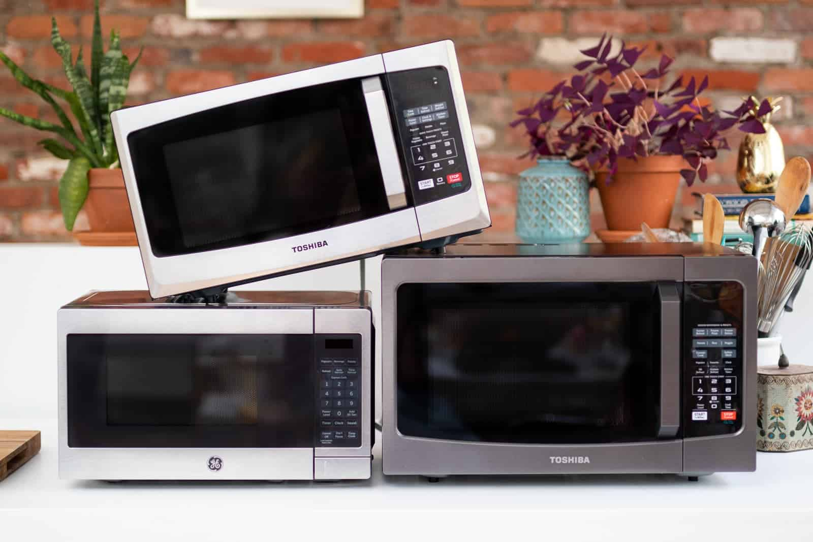 Different sized microwaves