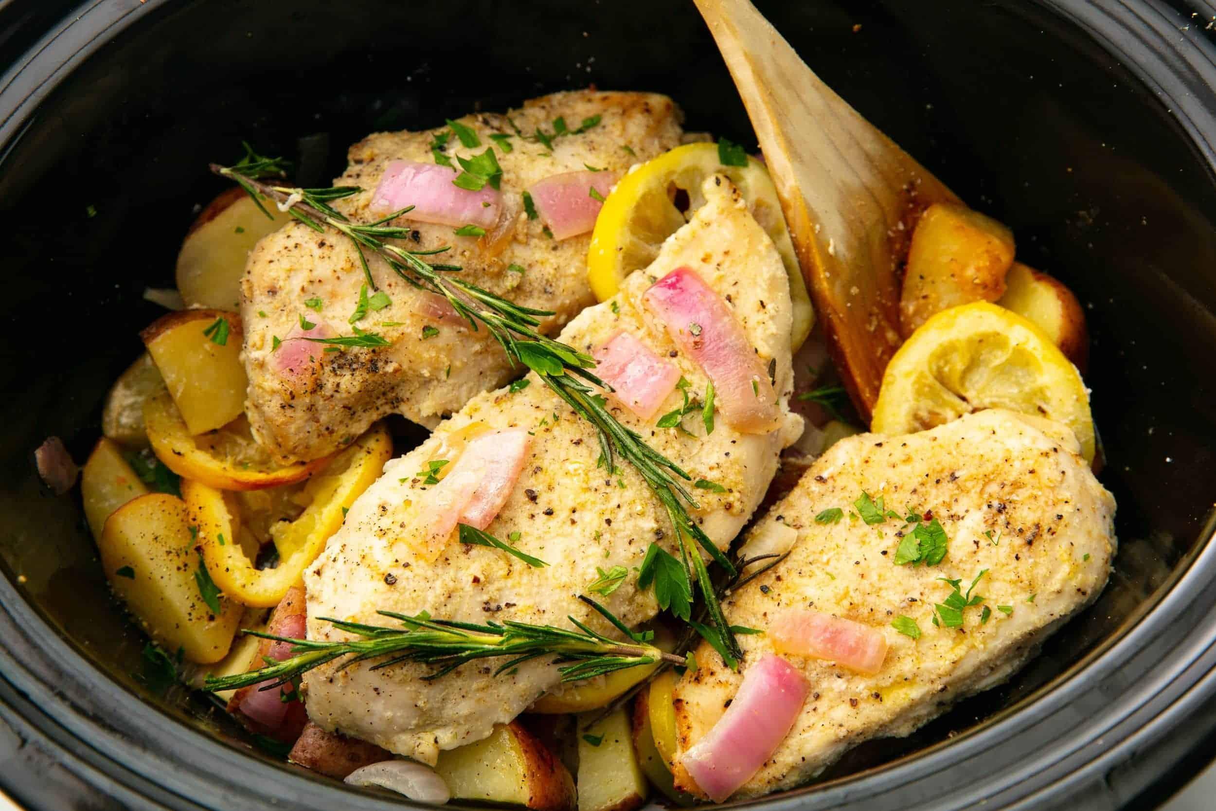 Cooking a crock pot recipe