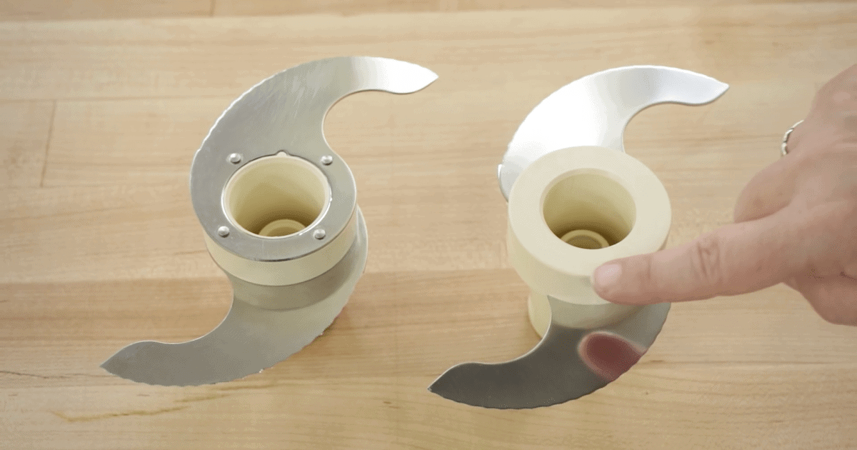 Food Processor s-shaped blade