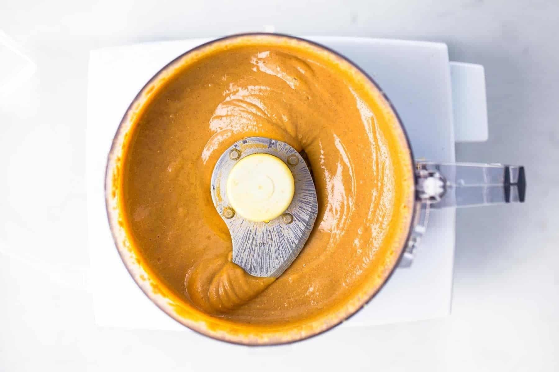 Making nut butter in food processor