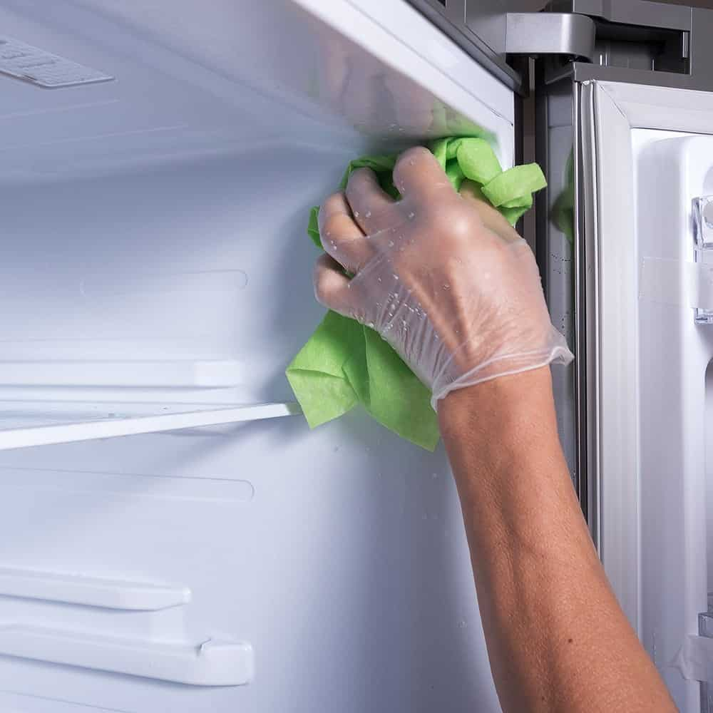 Cleaning inside the fridge