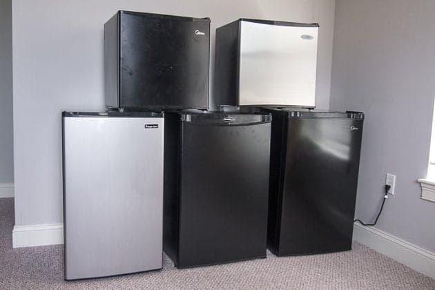Different size fridges