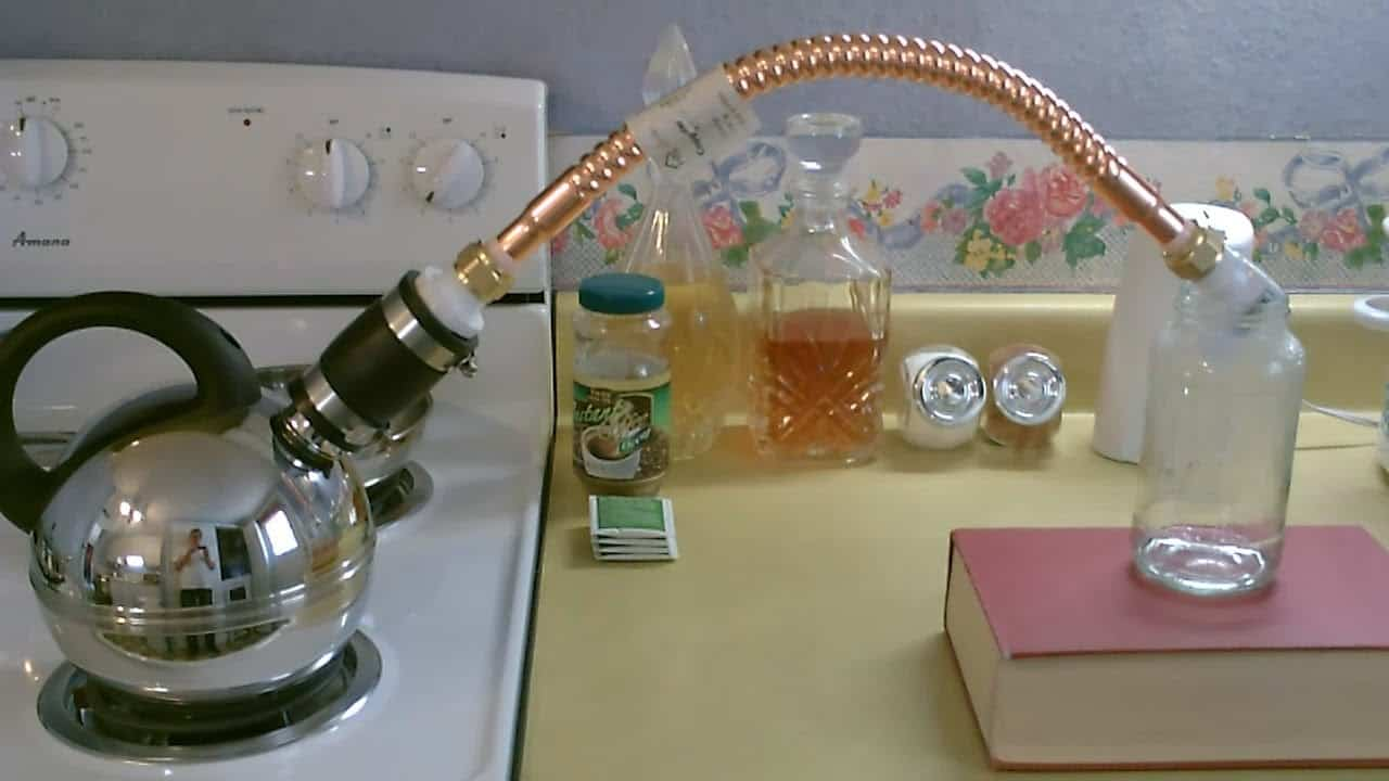 Distilling water from a DIY project