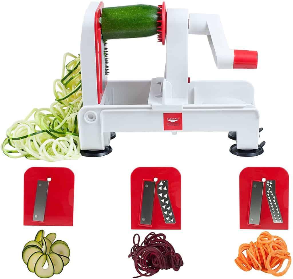 Paderno World Cuisine 3-Blade Vegetable Slicer / Spiralizer