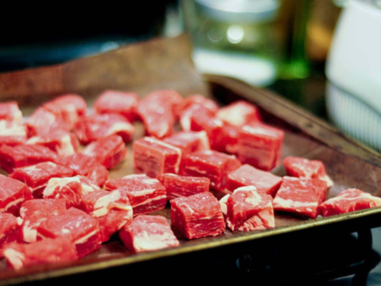 Freezing chunks of meat