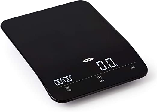 OXO Good Grips 6 Lb Precision Coffee Scale with Timer,Black,One Size
