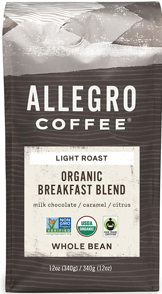 Allegro Coffee Organic Whole Bean Light Roast Coffee