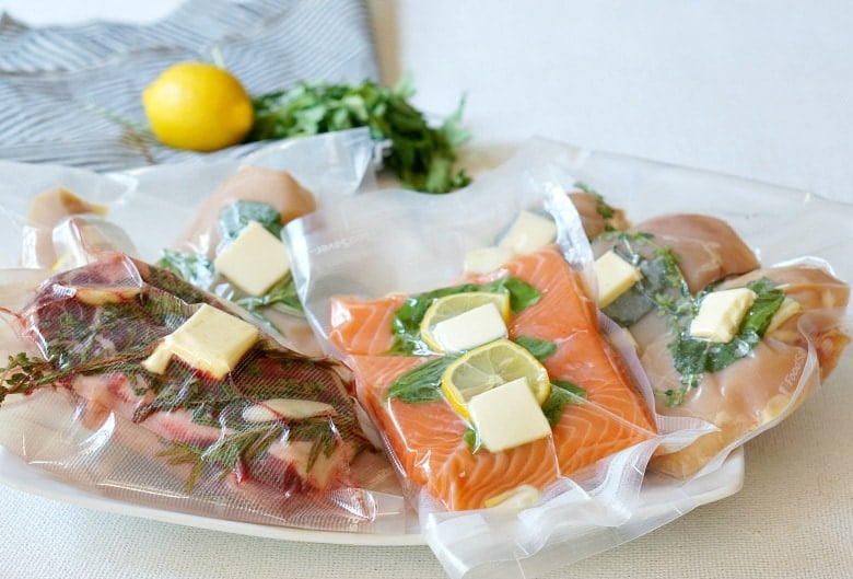Food prep for vacuum sealer bags