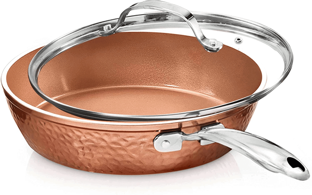 Gotham Steel Non-Stick Fry Pan with Lid