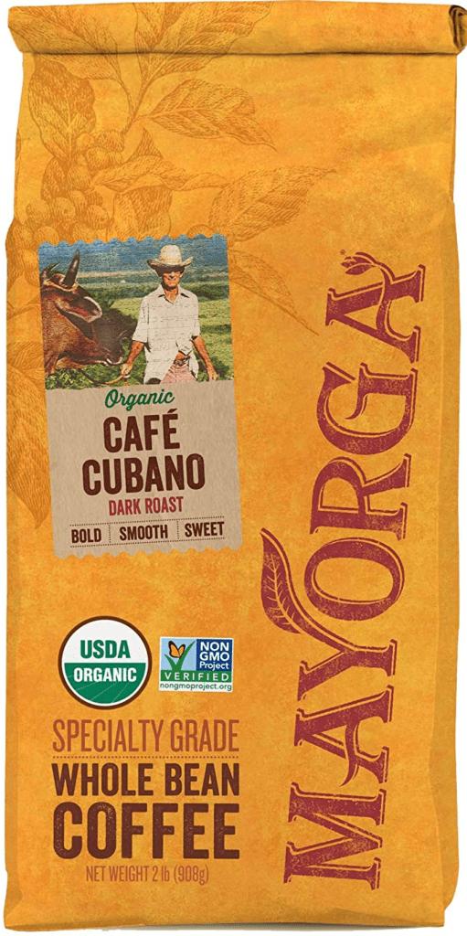 Mayagora Organics Cafe Cubano Dark Roast Coffee Beans