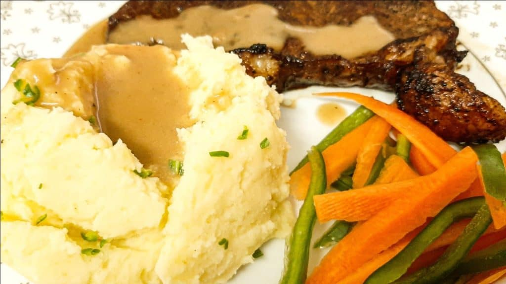 Turnip Mash and Veggie Dinner Plate