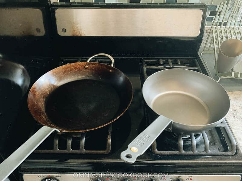 How to season carbon steel pan sets