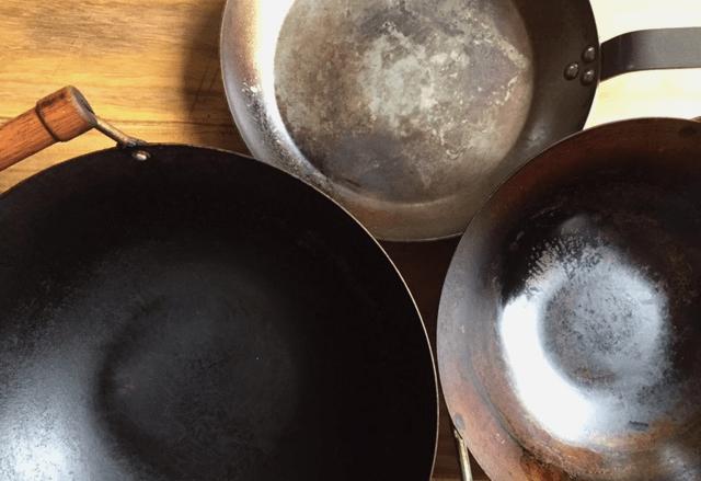 Seasoning carbon steel cookware