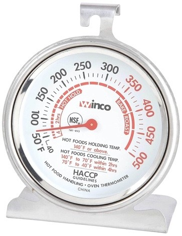 Winco 3-Inch Dial Oven Thermometer