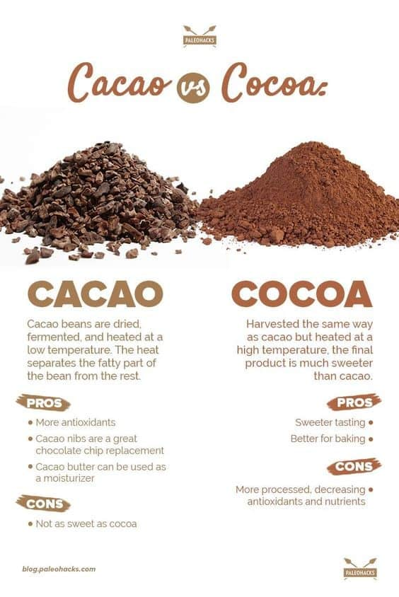 Cacao vs Cocoa Powder