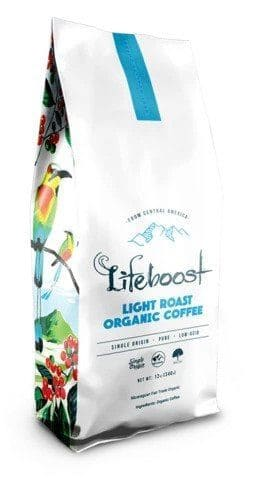 Lifeboost Organic Light Roast Beans