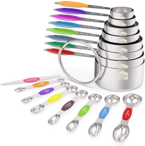 Wildone Measuring cups and Spoons Set