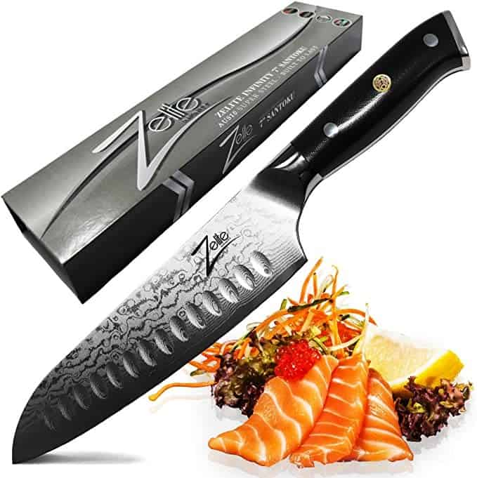 Zelite Infinity Alpha-Royal Series Santoku Knife 7 Inch