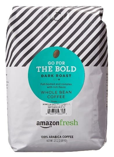 Amazon Fresh Dark Roast Whole Coffee Bean