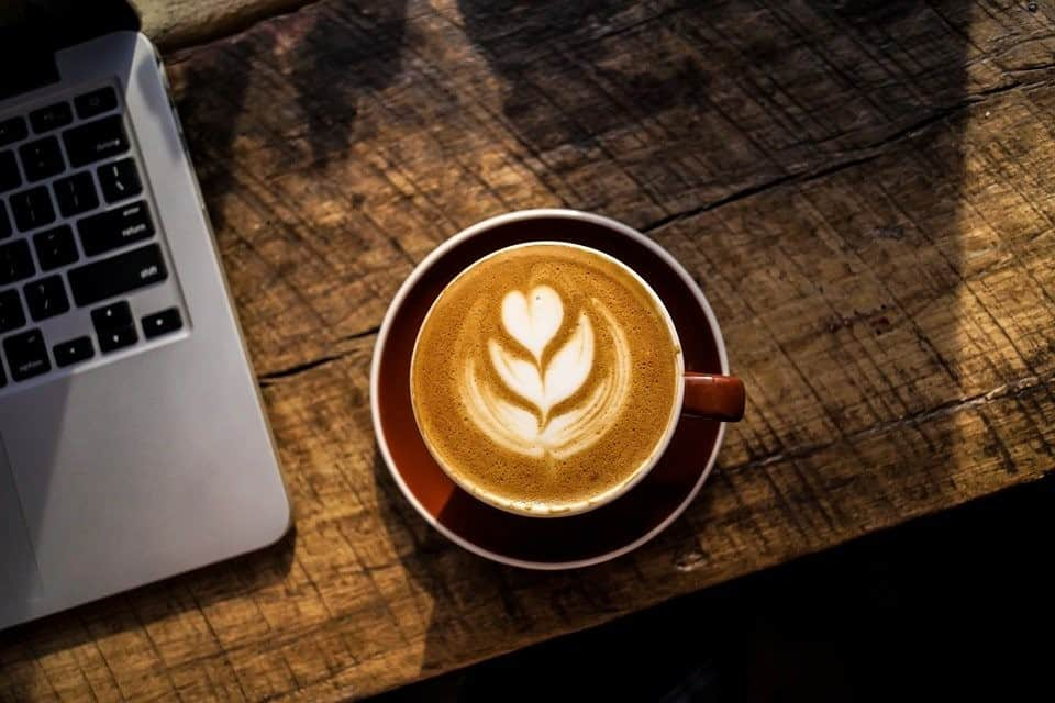 Artistic Latte in a Cup