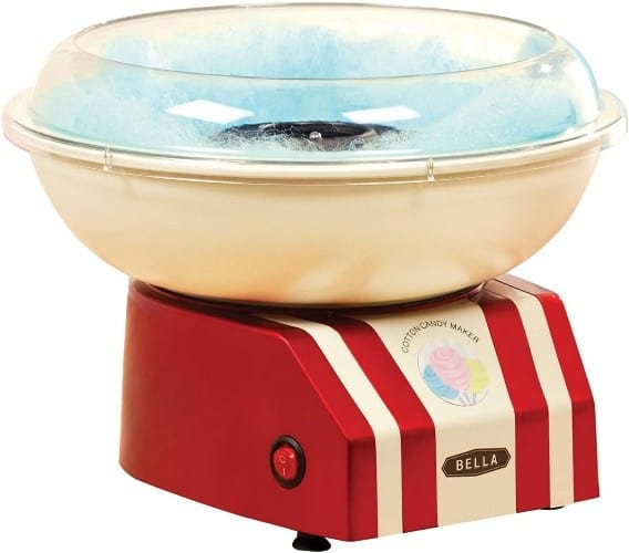 BELLA Red and White Cotton Candy Maker