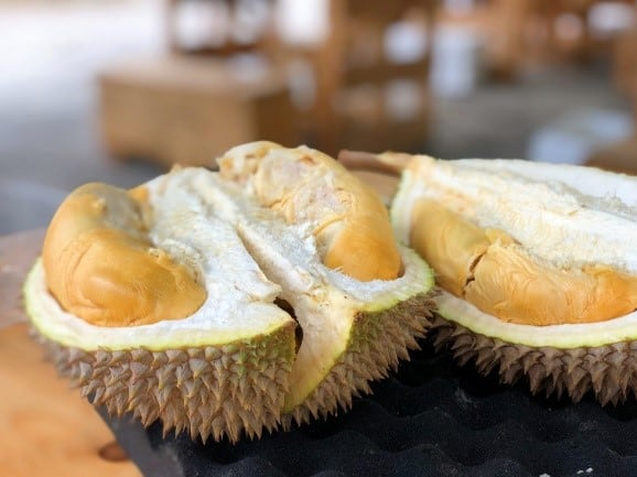 Cut up Durian Fruit