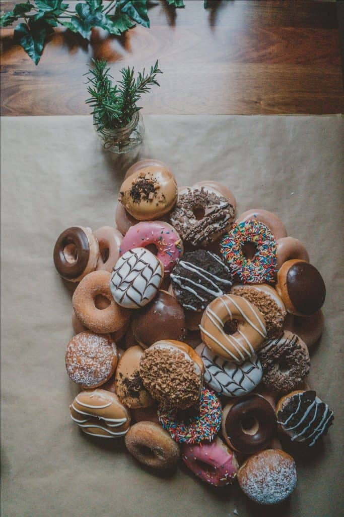 Different-Flavored Donuts