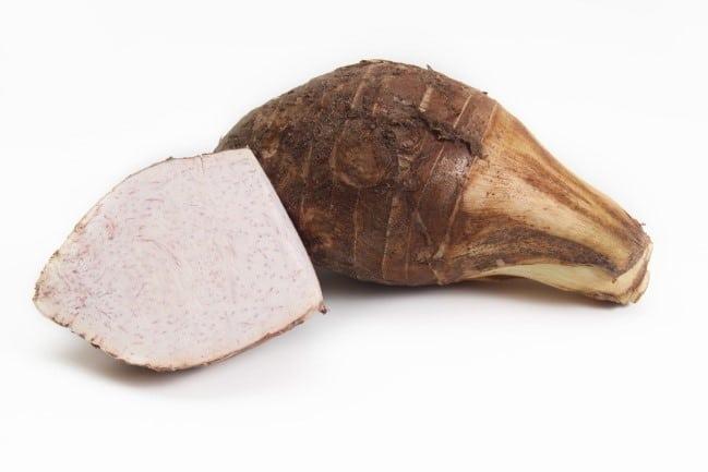 Fresh raw taro