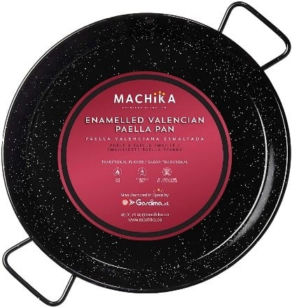 Machika Enameled Steel Paella Pan 10 inch