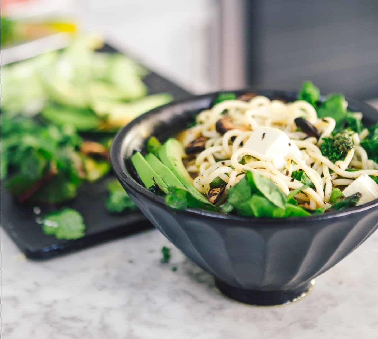 Ramen with Veggies in a Bowl