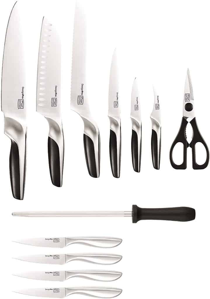 The Chicago Cutlery DesignPro 13 Piece Block Set Black Silver